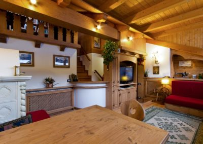 soggiorno in legno